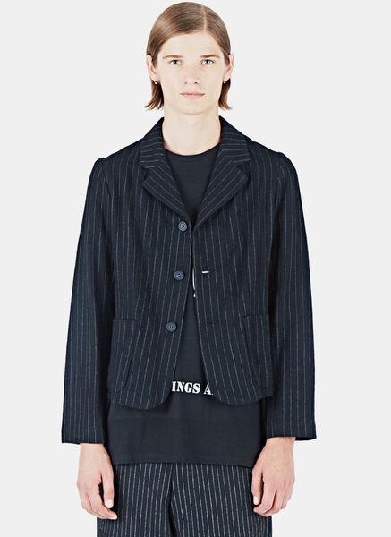 Image of Aganovich Striped Short Jacket