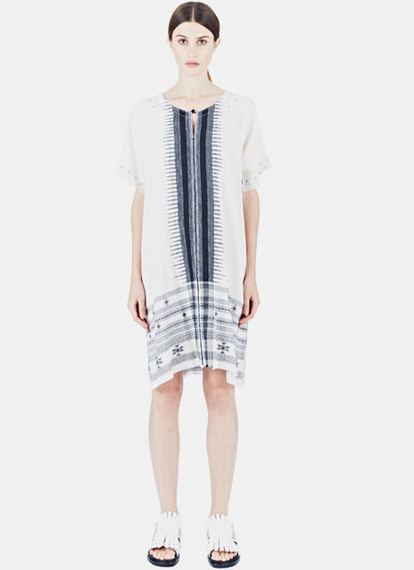 Alison Welsh Bold Traditional Weave Black and White Dress