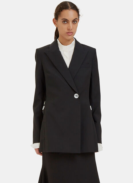 Gene Ruched Drawstring Sleeve Blazer Jacket