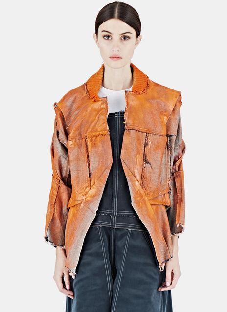 Painted Textured Denim Jacket