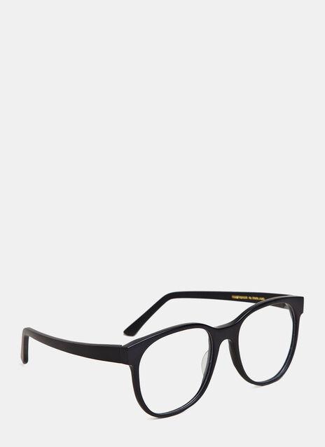 Larke Unisex Horne Matt Black Glasses