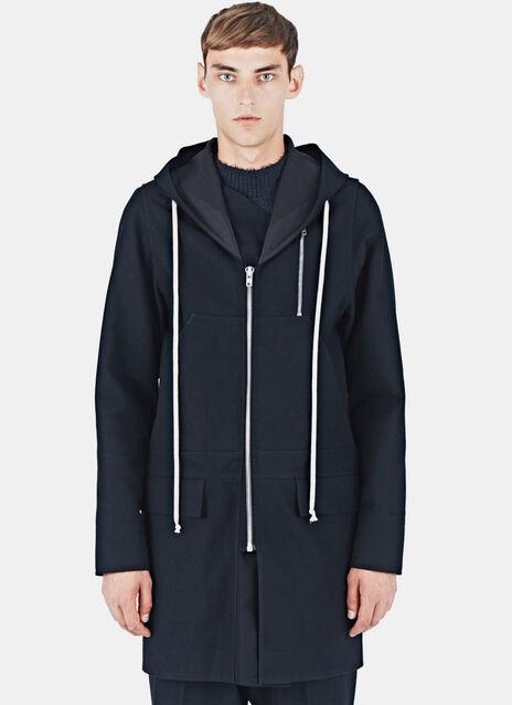 Hooded Felt Wool Coat