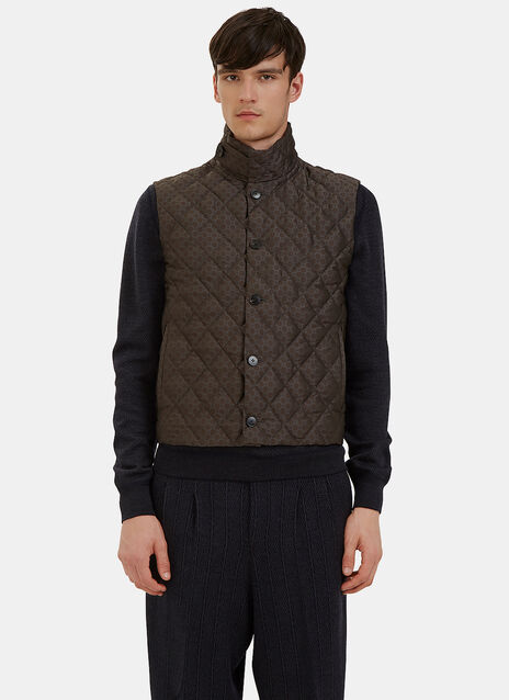 Quilted Jacquard Gilet