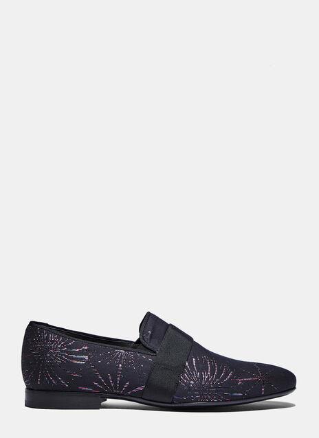 Lamé Jacquard Slippers