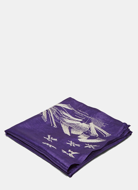 Silk Embroidered Scarf