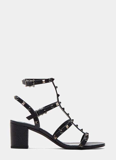 Rockstud Rolling Block Heeled Sandals