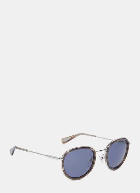 Round Frame Marble effect Sunglasses