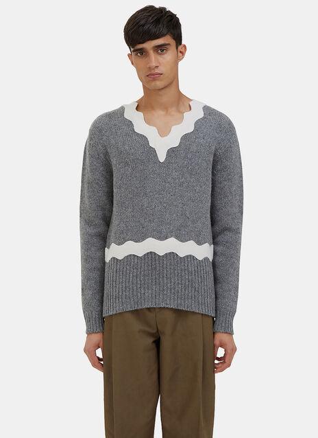 Kapila Waved Knit Sweater