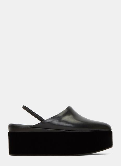 Velvet Platform Slippers
