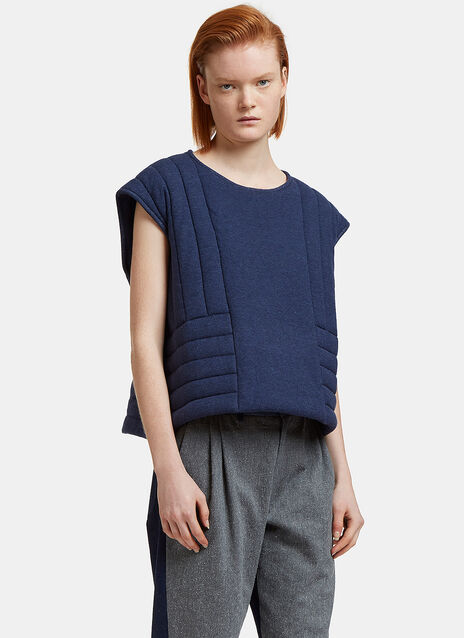 Oversized Quilted Vest Top