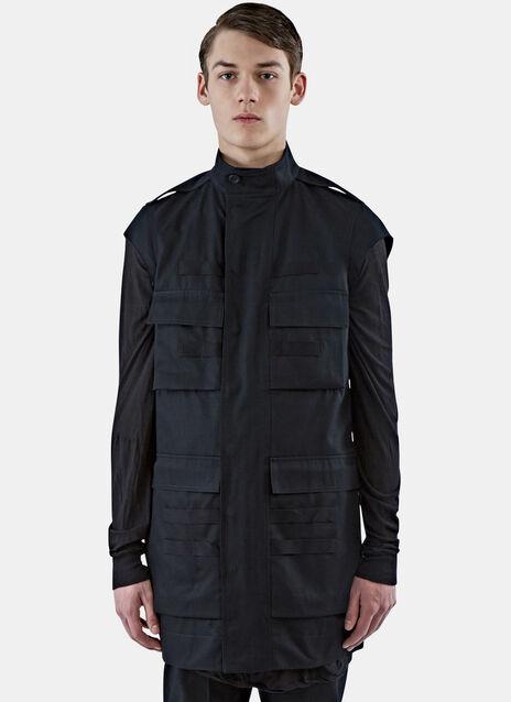 Cap Sleeved Cargo Parka Jacket