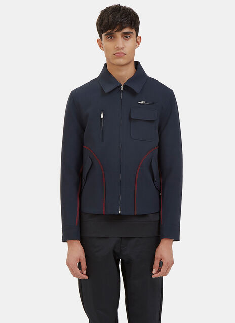 Harrington Contrast Serge Stitched Jacket