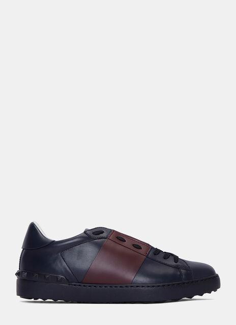 Contrast Panel Stud Sneakers