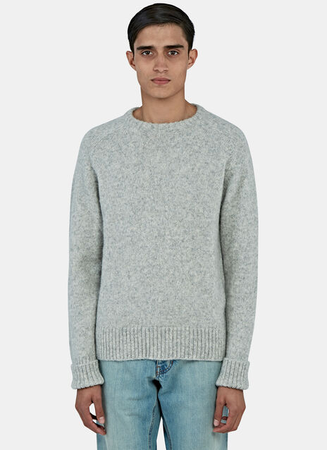Alpaca Wool Crew Neck Sweater