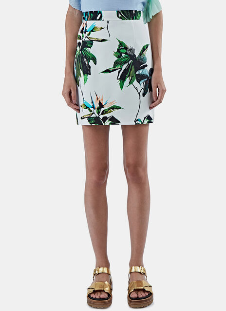 Tropical Print Miniskirt