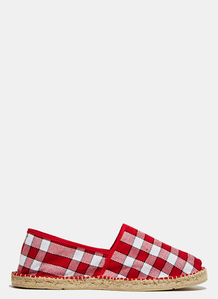 Image of Aganovich Checkered Espadrilles