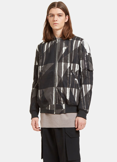 Printed Flight Bomber Jacket