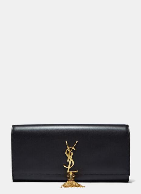 Monogram Leather Clutch Bag