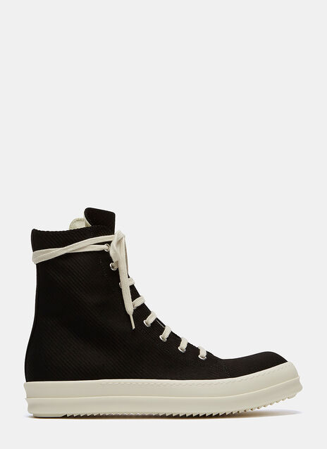 Embroidered Vegan High-Top Sneakers