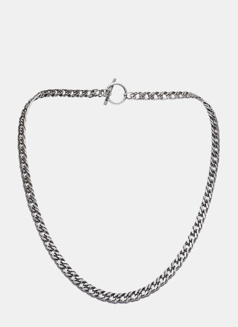 Short Double Curb Chain Necklace