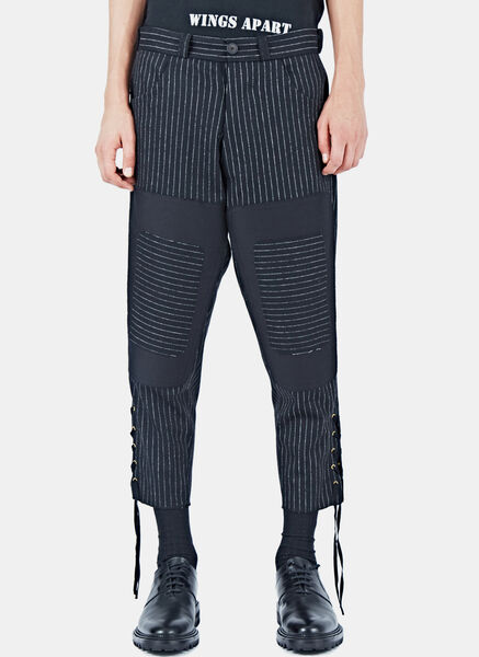 Image of Aganovich Pinstripe Patchwork Pants