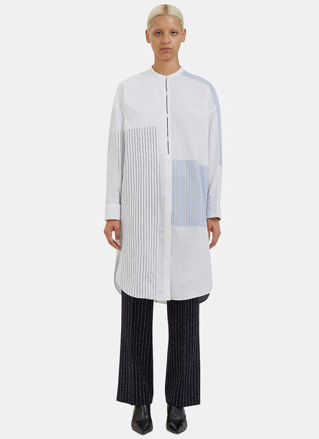 Elo Long Patch Striped Shirt Dress