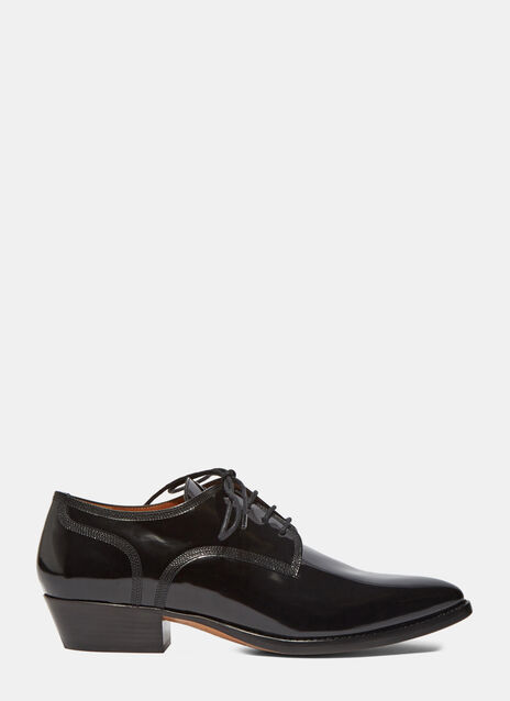 Patent Heeled Derby Shoes