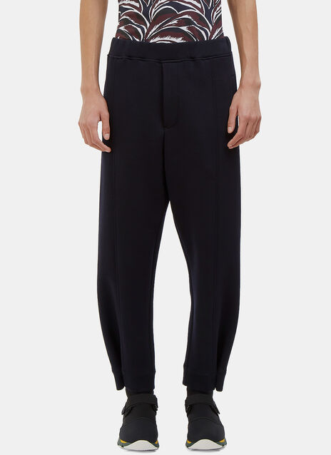 Buttoned Cuff Jersey Pants