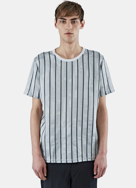 Embroidered Vertical Stripe T-Shirt