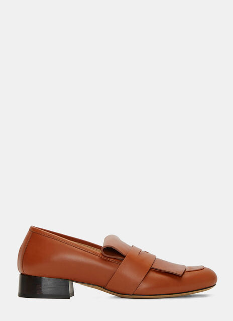 Dubois Leather Heeled Penny Loafers