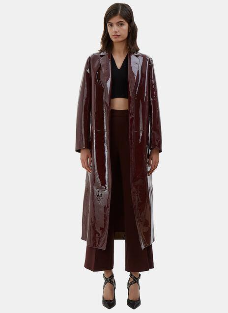 Long Patent Leather Coat