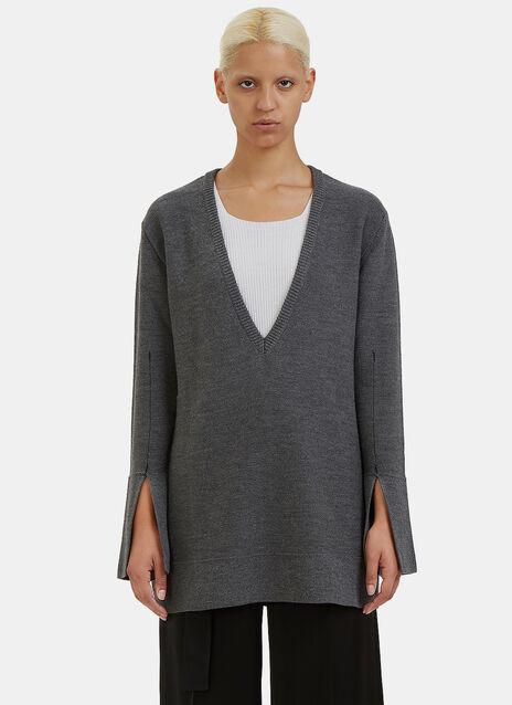 Barry Oversized V-Neck Sweater