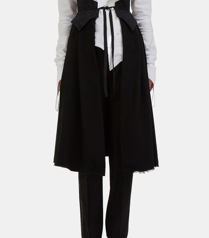 Brocade Band Wrap-Around Skirt