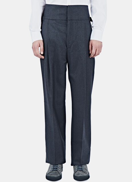 High-Waisted Wool Pants