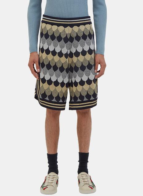 Lurex Jacquard Bermuda Shorts