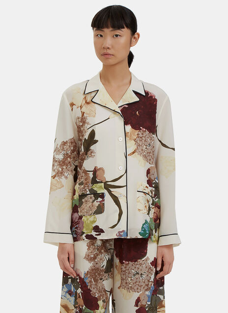 Floral Printed Pyjama Shirt