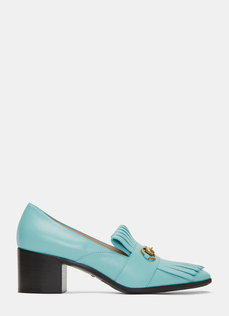 Heeled Horsebit Loafers