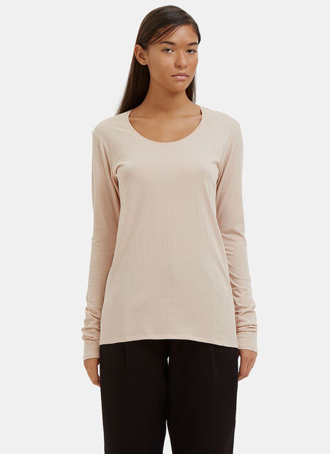 Building Block Long Sleeved Scoop Neck Top