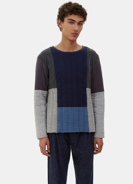 Oversized Quilted Patchwork Sweater