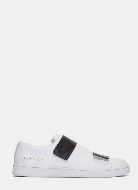 Triple Contrast Velcro Strap Sneakers