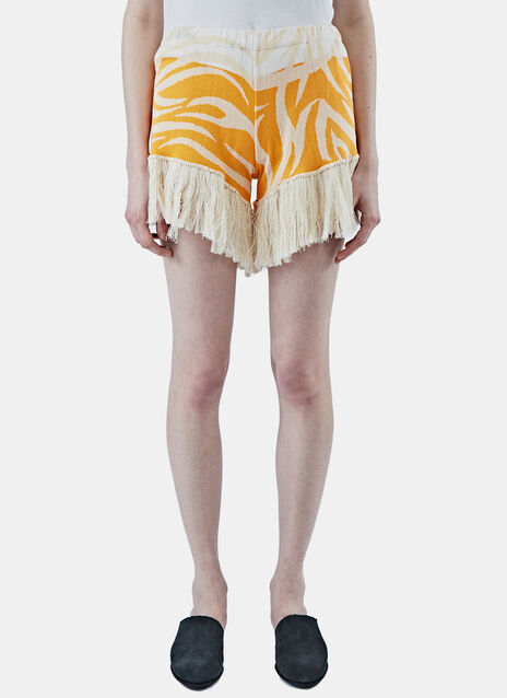 Tribai Fringed Jacquard Shorts