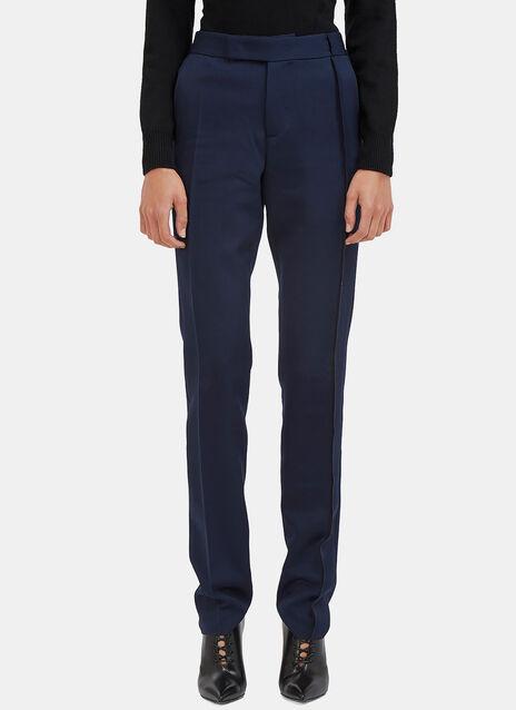 Slim Leg Serge Stitched Tailored Pants