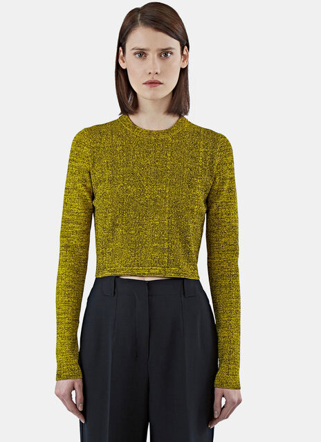 Cropped Mouline Sweater