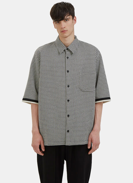 Oversized Houndstooth Shirt