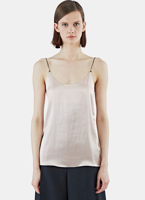 Ellie Satin Crepe-Backed Top