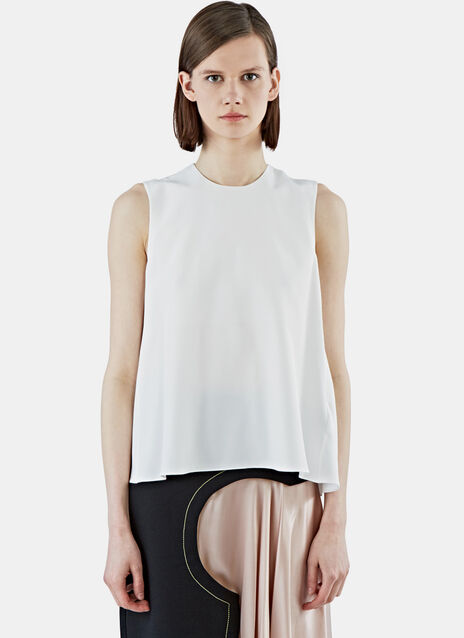 Fuji Satin-Backed Crepe Tank Top