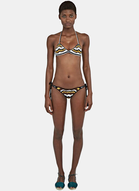 Honey Tie Sides Zigzag  Bikini