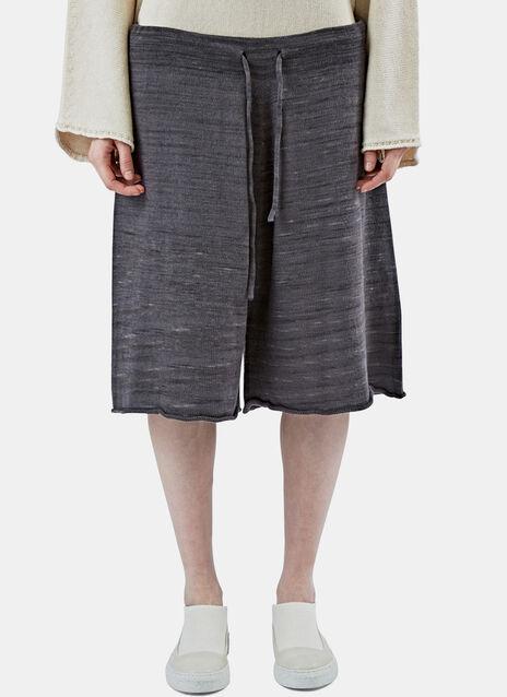 Miter Long Drawstring Knit Shorts