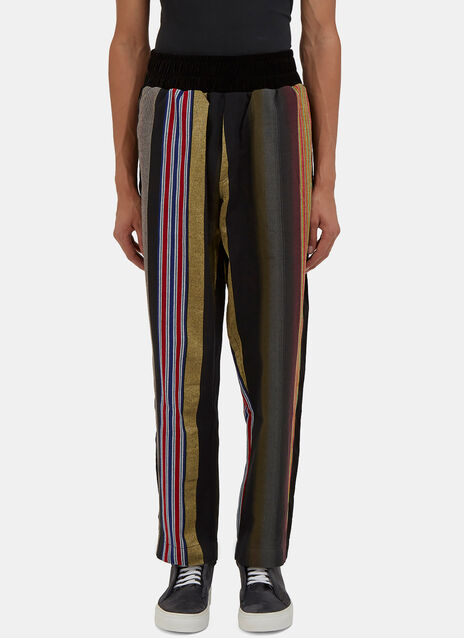Multicolour Striped Jogger Pants