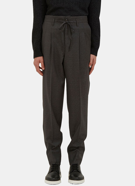 Oversized Patterned Suiting Pants